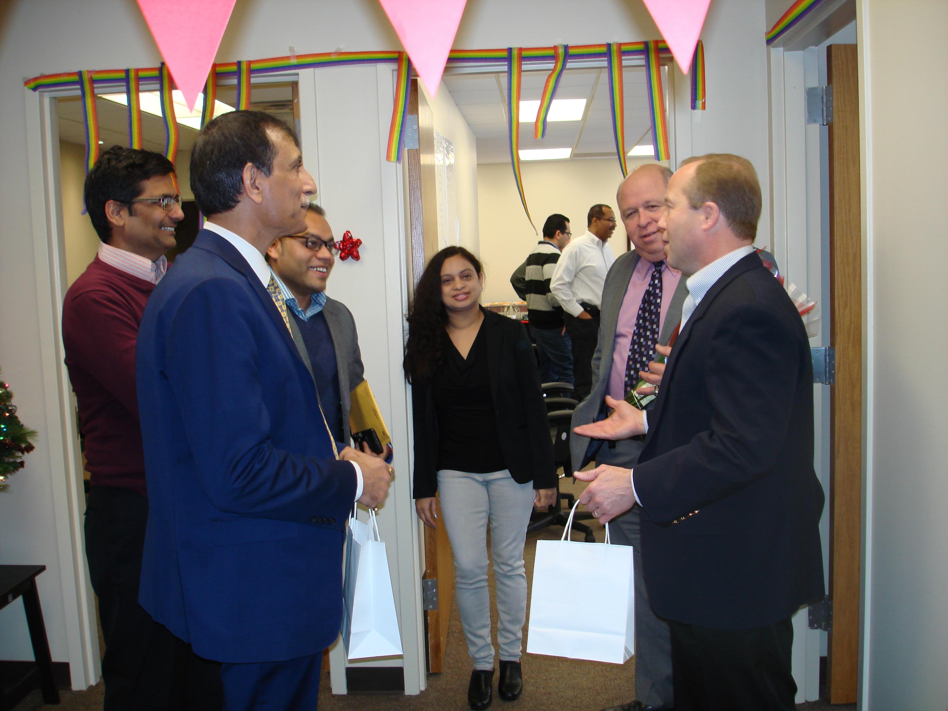 Mayor Barberio with Hadoop Express staff